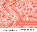 abstract hand drawn floral... | Shutterstock .eps vector #1372962392