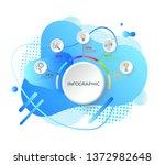 infographics vector  flowchart... | Shutterstock .eps vector #1372982648