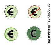 euro sign icons. vector... | Shutterstock .eps vector #1373000738