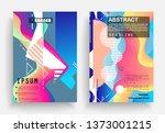 liquid color background design. ...   Shutterstock .eps vector #1373001215