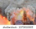 Huge fire sweeps through notre...