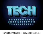 vector of stylized modern font... | Shutterstock .eps vector #1373018318
