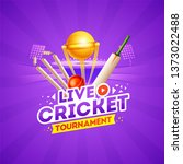 live cricket tournament concept ... | Shutterstock .eps vector #1373022488
