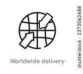 outline worldwide delivery... | Shutterstock .eps vector #1373062688