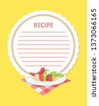 recipe template with kebab... | Shutterstock .eps vector #1373066165