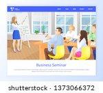 business seminar people... | Shutterstock .eps vector #1373066372
