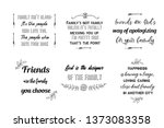 set of calligraphy saying for... | Shutterstock .eps vector #1373083358