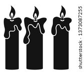 magic burning candle icon.... | Shutterstock .eps vector #1373087255