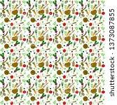 fresh vegetables seamless... | Shutterstock .eps vector #1373087855
