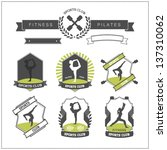 set of sports clubs badges | Shutterstock .eps vector #137310062