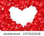 red rose flower petals in shape ...