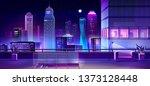 modern megapolis at night.... | Shutterstock .eps vector #1373128448