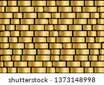 gold  brick wall. golden metal... | Shutterstock .eps vector #1373148998