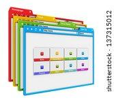 web site design and internet...   Shutterstock . vector #137315012