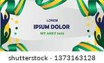 sports background  green  white ... | Shutterstock .eps vector #1373163128