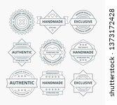 handmade logo design | Shutterstock .eps vector #1373172428