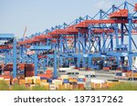 hamburg   may 03. stacked... | Shutterstock . vector #137317262