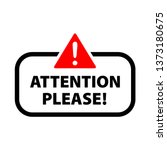 attention icon vector | Shutterstock .eps vector #1373180675