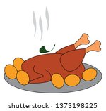 a plate with hot and spicy... | Shutterstock .eps vector #1373198225