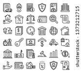 mortgage icons set. outline set ... | Shutterstock .eps vector #1373212715
