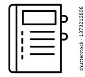notepad icon. outline notepad...   Shutterstock .eps vector #1373212808
