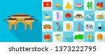 vietnam icons set. flat set of... | Shutterstock .eps vector #1373222795