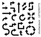 black arrows set. collection of ... | Shutterstock . vector #1373290772