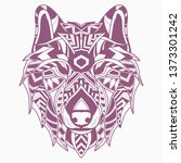 line art of wolf | Shutterstock .eps vector #1373301242
