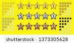 set of customer feedback 5 star ... | Shutterstock .eps vector #1373305628