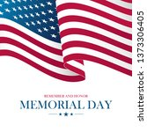 usa memorial day card with... | Shutterstock .eps vector #1373306405