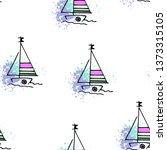 childish pattern yachts...   Shutterstock .eps vector #1373315105