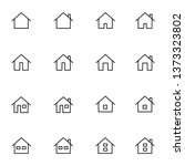 house icons set black and white ... | Shutterstock .eps vector #1373323802