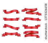 red ribbons set. vector design... | Shutterstock .eps vector #1373326658