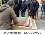 street musician performing... | Shutterstock . vector #1373329922
