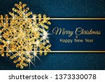 merry christmas greeting card....   Shutterstock .eps vector #1373330078