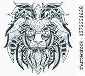 head lion zentangle | Shutterstock .eps vector #1373331638