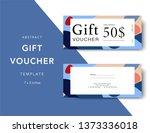 abstract gift voucher card... | Shutterstock .eps vector #1373336018