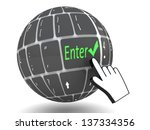 keyboard enter  key | Shutterstock . vector #137334356