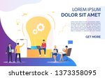 light bulb  people discussing... | Shutterstock .eps vector #1373358095