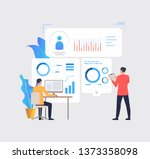 business people working with... | Shutterstock .eps vector #1373358098