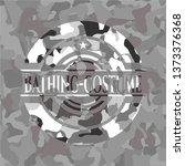 bathing costume on grey camo... | Shutterstock .eps vector #1373376368