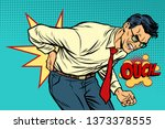 man back pain  medicine and... | Shutterstock . vector #1373378555