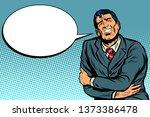 businessman has a stomach ache. ... | Shutterstock . vector #1373386478