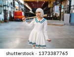 Cute Anime Style Blonde Girl...