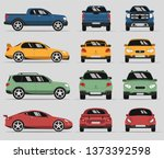 car in three positions. four... | Shutterstock .eps vector #1373392598