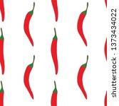 hot red pepper seamless pattern ... | Shutterstock .eps vector #1373434022