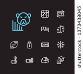 trading icons set. chart and...