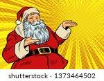 santa claus copy space template.... | Shutterstock . vector #1373464502