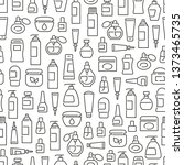 seamless pattern with cosmetic... | Shutterstock .eps vector #1373465735