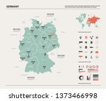 vector map of germany.  high... | Shutterstock .eps vector #1373466998